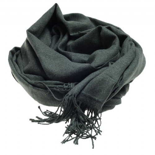 Plain extra soft pashmina style scarf in green